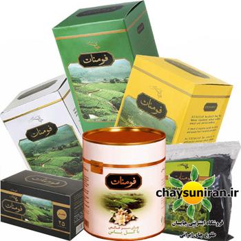 بسته مصرفی انواع چای های فومنات